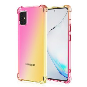 Gradient Color Soft TPU Transparent anti-knock case For Samsung S11 e plus A51 A71 A81 A91 A70s A50s A40Ss A10s A20s m30s 5G