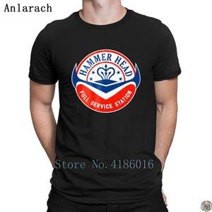 Çekiç kafa tshirt üst tee Son Biçimsel Tasarımlar erkekler Kısa Kollu beyler yaz Anlarach Famous tshirt