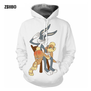 ZSIIBO Uomo Cartoon collage stampa Bug 3d felpe con cappuccio Felpe unisex casual Pullover autunno tuta all'aperto S-5XLWGWY54
