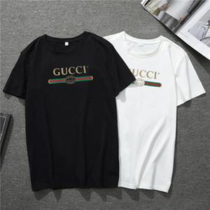 T-shirt da uomo di design classico business manica corta colletto tondo allentato di base T-Shirt moda casual camicia inferiore da uomo