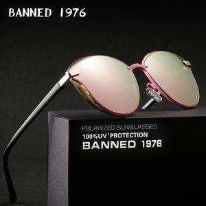 PROIBIDO 1976 Luxo Mulheres Sunglasses Moda Rodada Ladies Marca Retro Vintage Designer extragrandes fêmeas óculos de sol oculos gafas T191230