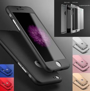 Luxus ultradünne 360 stoßfest hybrid lcd gehärtetes glas displayschutzfolie pc hard phone case abdeckung shell für apple iphone 6s 7 8 plus x xs