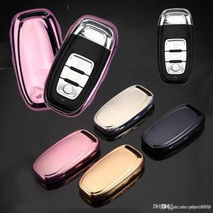 Новое моделирование Защитная крышка Мягкие TPU кольца для ключей для Audi A4 A5 A6 A4L A6L Q5 S5 S7 Защита Shell автомобиля Стайлинг крышки случая