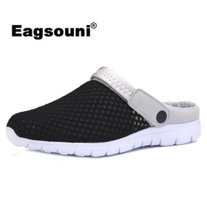 Eagsouni 2018 Verano Nuevos Hombres Sandalias de Malla Ultra-ligeras Transpirable Pareja Playa Hombres Zapatos Casual Zapatos Femeninos