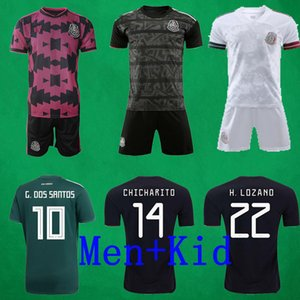 2020 2021 Meksika Futbol Forma 20 21 Chicharito VELA RAUL LOZANO Futbol Formalar ve Pantolon Bay Çocuk Gömlek Futbol Takımı Camisola de Futebol