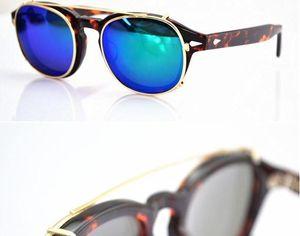 Lemtosh di alta qualità S m L Formato Johnny Depp Style Occhiali da sole Occhiali da sole Clip Uomo Retro Vintage Polarized 7Color Donne clip