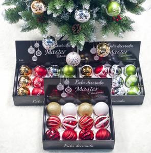 8cm Christmas Ball Set Xmas Tree Красочные украшения Украшение кулон Electroplated Рождественские шары Подарок Для дома партии нового GGA2854