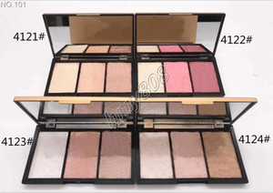 Free Shipping ePacket New Makeup Face High Quality Bronzers & Highlighters Blush Palette 3 Colors Powder Combined Palette!