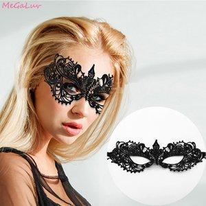 Fuentes de la máscara 1piece Fantasía hoja de oro de encaje Bronzing Shaping partido de la mascarada veneciana atractivos de señora Ojos Máscaras del partido de Bachelorette