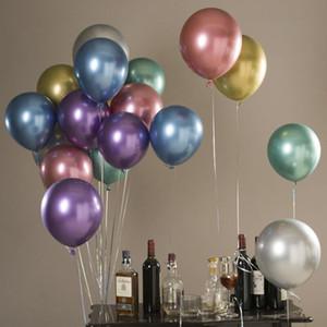 50PCS ajustado do casamento do Natal colorido do partido Pérola Latex Ballon Feliz Aniversário Engagement Balões Partido Cortina de 12 polegadas