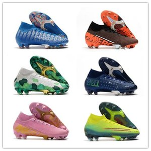 Top para hombre de calidad Mercurial Superfly VII 7 360 Elite FG SE ADN Future Lab 002 CR7 Ronaldo Neymar NJR muchachos zapatos de fútbol Botas de fútbol Tacos