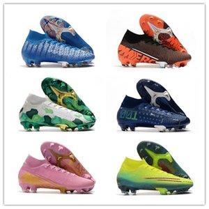 Top qualité Hommes Mercurial Superfly VII 7 360 Elite SE FG Future Lab 002 DNA Ronaldo CR7 Neymar NJR Garçons Chaussures de football Chaussures de football Crampons