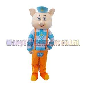 New Navy Pig mascotte costumes costume de caractère de luxe de bande dessinée de qualité Top Navy Pig costume de mascotte soirée costumée carnaval Livraison gratuite