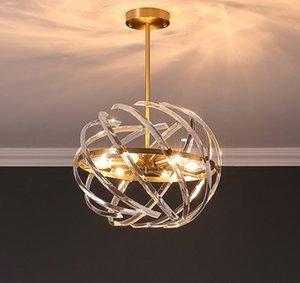 Ball Design Gold Crystal Chandelier Lighting Ac110v 220v Led подвесной светильник для гостиной и спальни Llfa
