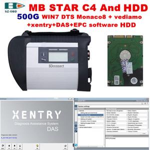 MB Star C4 multilingue voiture outil de diagnostic scanner OBD2 connecteur SD C4 avec le dernier logiciel DTS-Vediamo Xentry DAS Monaco SIO pour Benz Car
