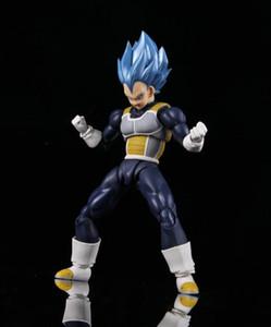 Dragon Ball Toy Dragon Ball Figure dai capelli blu Vegeta Figure SHF Vegeta Figura di azione mano di modello