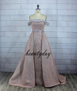 Blush Pink Glitter Fabric Vestidos de baile Vestidos de noche Beach Party Guest Gown Party Black Couple Day Dress Cheap Custom Made