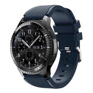 삼성 기어 S3 프론티어 용 밴드, 22mm 퀵 릴리스 핀이있는 부드러운 실리콘 스포츠 교체 스트랩 Samsung Gear S3 프론티어 시계