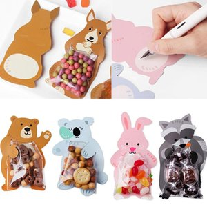 10Pcs lot Ear Bags Cookie Plastic Bags Candy Gift For Biscuits Snack Baking Package And Event Party Supplies
