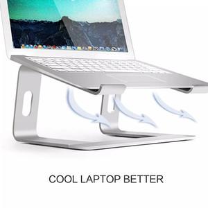 Laptop Stand, Aluminium Cooling Stand, beweglicher Tilted Erhöhte Laptop Riser mit Anti-Rutsch-Pads und Frontlippe