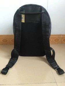 New Mike mochila saco de viagem pu material de grade preta de alta qualidade mochila, 001