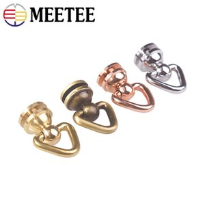 Meetee Brass O Ring Nail Rivet Nipple Side Buckles Handbag Rotation Pendant Hook DIY Bag Hardware Accessories