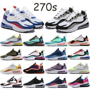 Реагировать 270S мужские спортивные кроссовки зимние Баухауса гипер розовый черный белый пузырь, обертывание регги спортивных тренеров мужских кроссовок Chaussures