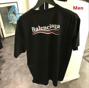 Hommes en gros 2019 été mens designer t-shirt de style européen velours t-shirt col rond coton manches courtes hommes et femmes t-shirts 99