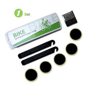 Plano de la bicicleta de neumáticos Kit de reparación de Glueless Parches y neumático de la bici palancas de ajuste debe tener herramientas para el tubo más interior Reparaciones de punción