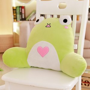 Animals Lumbar Plush Pillow Chair Seat Back Support Pillow Frog Chick Pig Dog Tiger Nap Pillow Adults Kids Washable