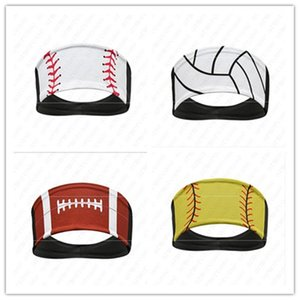 Softball تصميم العصابة البيسبول التعادل رباطات هيرباند العرق الفرقة العمامة وشاح سريعة الجافة عقال غطاء الرأس للرجال والنساء hots D52216