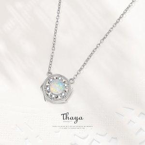 Fairy Tale Série Thaya Argent 925 exquis Opale Zircon Collier ras du cou argent 925 pour les femmes nacklace Fine Jewelry gifs