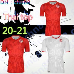 جودة التايلاندية 20 21 تونس لكرة القدم الفانيلة 2020 2021 Msakni Khazri السليطي BEN YOUSSE HAMZA المنزل بعيدا قميص كرة القدم مايوه دي القدم