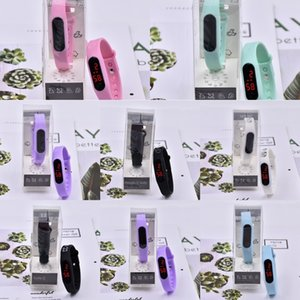 color del reloj IC Xiaomi de silicona del gel de silicona de electrones de electrones constelación de dibujos animados de moda llevó el reloj pulsera electrónica