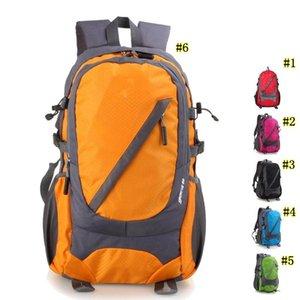 Outdoor 30L Camping Backpack Montanhismo Caminhadas Sports Mochila Packs nylon impermeável ambos os ombros de lona 6 cores MMA2445-11