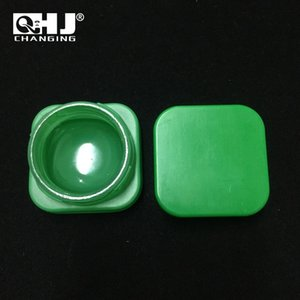 Premium Square 5ML Glass Concentrate Jar Colorful Mini Glass Bottle with Child Proof Lid Free Shipping