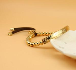 Stretch 3Colors marca di modo di tono placcato oro branello di fascino Stretch braccialetto placcato oro Brcelet barcelets lettera marchio regalo del braccialetto