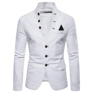 Costumes pour hommes Blazers Euro Taille 2019 Printemps Automne Multi-boutons Décontracté Décontracté Col Costume Hommes