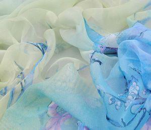 Moda Lady Chiffon Women Ladies Neck Shawl Scarf Bufandas Flower Wrap Stole Warm Gift Summer Popular New