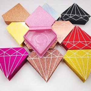 جديد الماس مربع 3d المنك الرموش رمش كاذبة حالة المنك جلدة حزمة لاش صناديق الهدايا التغليف مربع حالة مغناطيسية