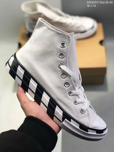 Stripe off Chuck 1970S canvas men's and women's running shoes white eye-catching orange red Shoelaces Taylor fashion casual shoes xshfbcl