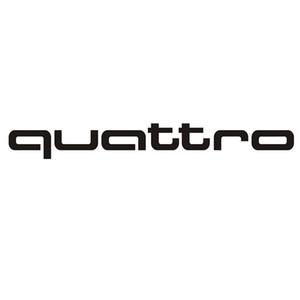 20 * 2.2CM QUATTRO كل عجلة مدفوعة الرياضية الأزياء ملصق سيارة الفينيل CA-698