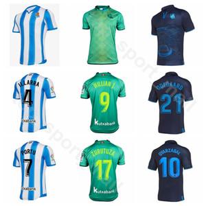 2020 Real Sociedad Jersey Hombres fútbol OYARZABAL 10 7 4 JUANMI ILLARRA 21 Odegaard 9 10 Kits camisa PRIETO 7 PORTU Fútbol Willian