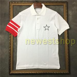 2020 Europa del verano para hombre franja de impresión t camisa camiseta del diseñador estrella de la moda de impresión hombres de la camiseta para mujer de algodón de polo unsex la camiseta tops camiseta