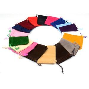 100 adet Ambalaj Halat Çanta Küçük Küpe Takı Çekme Kolye Flannelette Kadife Hediye Çantası 7x9 cm Velvet Kılıfı Alınır Enpkd