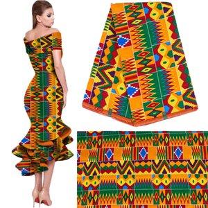 novo estilo nacional roupas de algodão tecido impresso de impressão geométrica simples de atacado de moda Africano tecido requintado navio livre