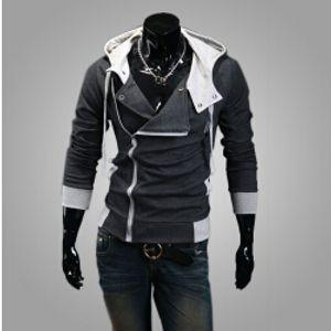 Fashion- أزياء جديد أنيق الرجال القتلة العقيدة 9 ديزموند مايلز زي تأثيري هوديي سترة معطف