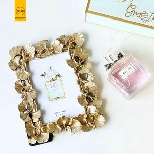2019 neue Europäische Blätter Fotorahmen Kreative Dekoration Hochzeit paar empfohlen Bilderrahmen Gold Silber