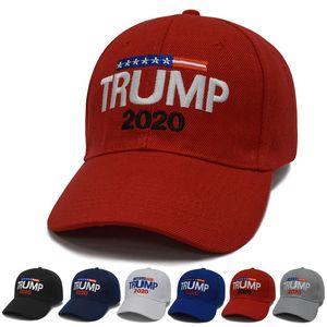 Nakış Trump 2020 Şapka 6 Renkler Donald Trump Snapback Şapka Trump Cumhuriyetçi Spor Kapaklar Açık Mens Womens Beyzbol Şapkası BH2099 TQQ
