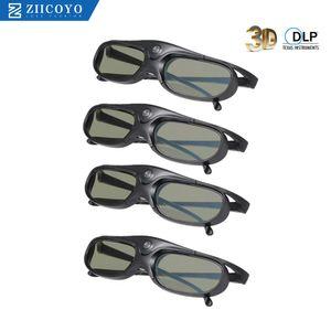 Obturador activo DLP Link gafas 3D 96-144HZ Compatible con Optama / Acer / BenQ / ViewSonic / XGIMI DLP Link proyectores DLP 3D Ready